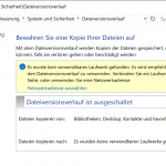 Windows 10 Dateiversionsverlauf auf der internen Festplatte einrichten (Ransomware-Locky-Sicher) – Nachtrag #2