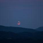 Sonnenuntergang, blaue Stunde, Blutmond und Mondfinsternis auf dem Hohen Horn