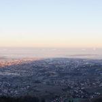 Sonnenaufgang - Die Rheinebene im Nebelmeer