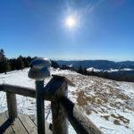 Schneeschuhwanderung vom Hebelhof zum Herzogenhorn - Krunkelbachtal / Hütte und zum Spießhorn