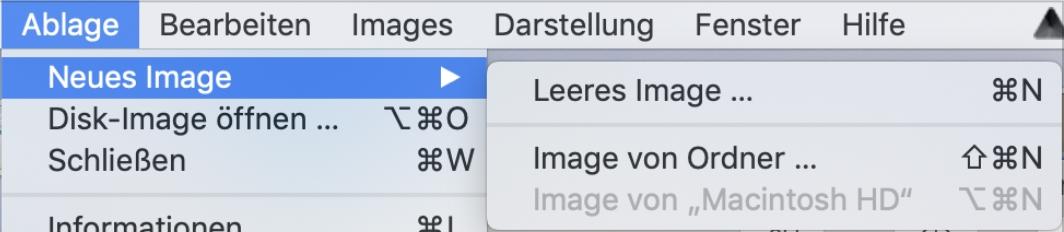 Festplattenmanager Image erstellen